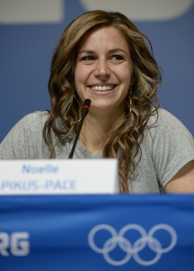 Feb 15, 2014; SOCHI, RUSSIA; American Noelle Pikus-Pace won the silver medal in women's skeleton. Mandatory Credit: Michael Madrid-USA TODAY Sports