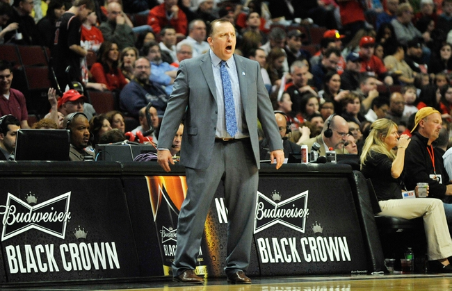 Mar 31, 2013; Chicago, IL, USA; Chicago Bulls head coach Tom Thibodeau during a game against the Detroit Pistons during the second half at the United Center. The Chicago Bulls defeated the Detroit Pistons 95-94. Mandatory Credit: David Banks-USA TODAY Sports