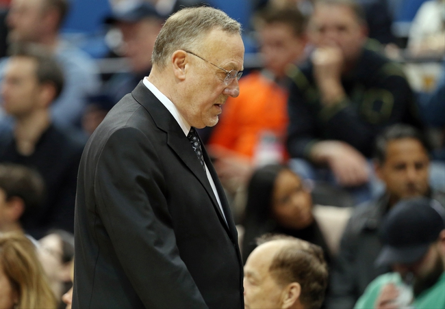 Apr 6, 2013; Minneapolis, MN, USA; Minnesota Timberwolves head coach Rick Adelman looks down and walks back to the bunch in the second half against the Detroit Pistons at Target Center. The Timberwolves won 107-101. Mandatory Credit: Jesse Johnson-USA TODAY Sports