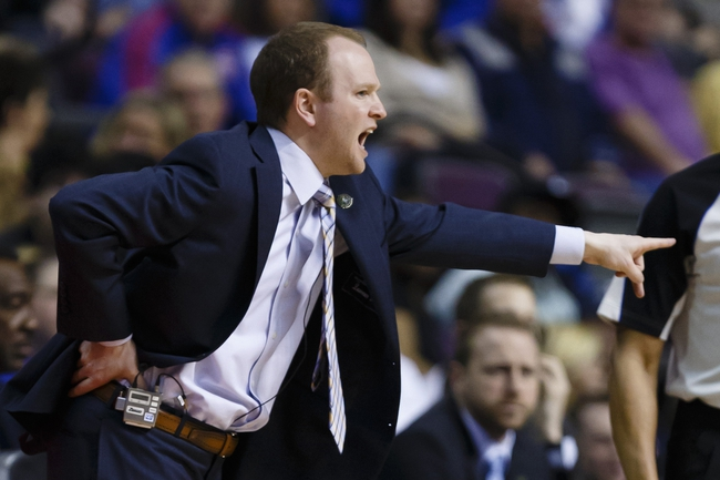 April 7, 2013; Auburn Hills, MI, USA; Detroit Pistons head coach Lawrence Frank reacts in the second quarter against the Chicago Bulls at The Palace. Mandatory Credit: Rick Osentoski-USA TODAY Sports