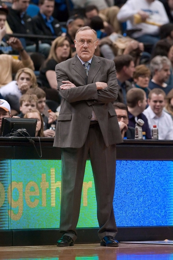Apr 13, 2013; Minneapolis, MN, USA; Minnesota Timberwolves head coach Rick Adelman looks on in the fourth quarter against the Phoenix Suns at the Target Center. Timberwolves won 105-93. Mandatory Credit:  Greg Smith-USA TODAY Sports