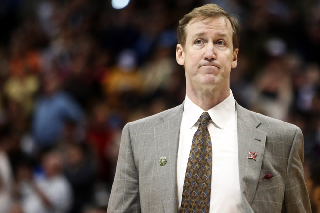 Apr 14, 2013; Denver, CO, USA; Portland Trailblazers head coach Terry Stotts after the game against the Denver Nuggets at the Pepsi Center. The Nuggets won 118-109.  Mandatory Credit: Chris Humphreys-USA TODAY Sports