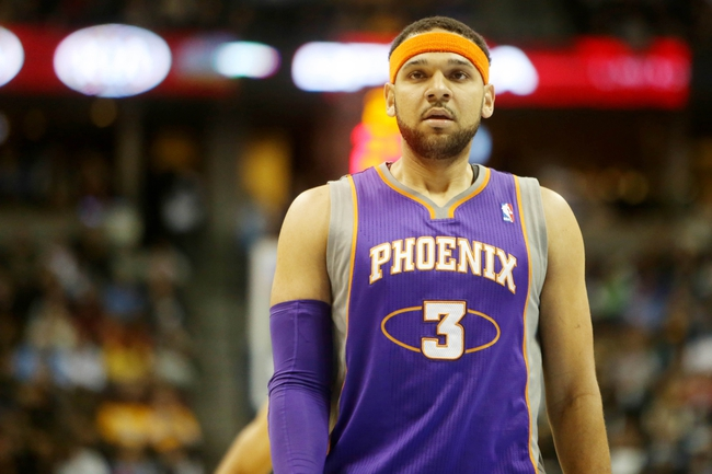 April 17, 2013; Denver, CO, USA; Phoenix Suns guard Jared Dudley (3) during the first half against the Denver Nuggets at the Pepsi Center.  The Nuggets won 118-98.  Mandatory Credit: Chris Humphreys-USA TODAY Sports