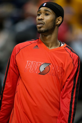 Apr 14, 2013; Denver, CO, USA; Portland Trailblazers guard Will Barton (5) before the first half against the Denver Nuggets at the Pepsi Center. Mandatory Credit: Chris Humphreys-USA TODAY Sports