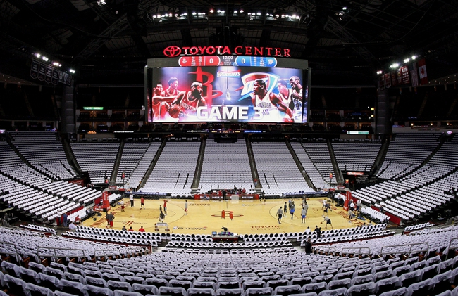 Apr 27, 2013; Houston, TX, USA; General view of the Toyota Center before game three of the first round of the 2013 NBA playoffs between the Houston Rockets and the Oklahoma City Thunder. Mandatory Credit: Troy Taormina-USA TODAY Sports