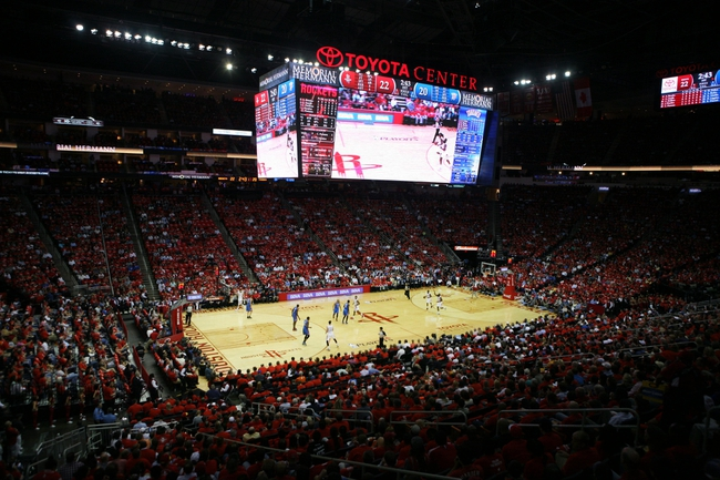 Apr 29, 2013; Houston, TX, USA; General view of the Toyota Center during a game between the Houston Rockets and Oklahoma City Thunder in the first quarter in game four of the first round of the 2013 NBA playoffs at the Toyota Center. Mandatory Credit: Brett Davis-USA TODAY Sports
