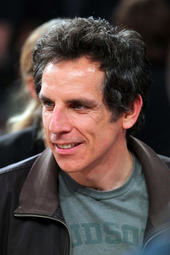 May 1, 2013; New York, NY, USA; Comedic actor Ben Stiller talks with fans following game five of the first round of the 2013 NBA Playoffs between the New York Knicks and the Boston Celtics at Madison Square Garden. Mandatory Credit: Brad Penner-USA TODAY Sports