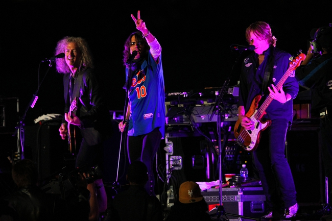Jun 14, 2013; New York, NY, USA; Foreigner performs a post-game concert following a game between the New York Mets and the Chicago Cubs at Citi Field. Mandatory Credit: Brad Penner-USA TODAY Sports