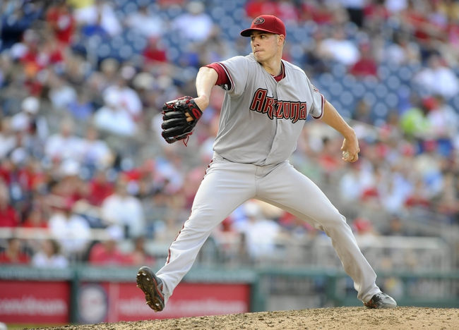 Jun 27, 2013; Washington, DC, USA; Arizona Diamondbacks starting pitcher Patrick Corbin (46) throws during the sixth inning against the Washington Nationals at Nationals Park. Mandatory Credit: Brad Mills-USA TODAY Sports