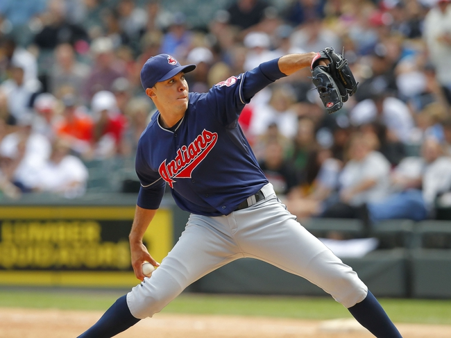 Jun 29, 2013; Chicago, IL, USA; Cleveland Indians starting pitcher Ubaldo Jimenez (30) delivers a pitch during the second inning against the Chicago White Sox at US Cellular Field. Mandatory Credit: Dennis Wierzbicki-USA TODAY Sports