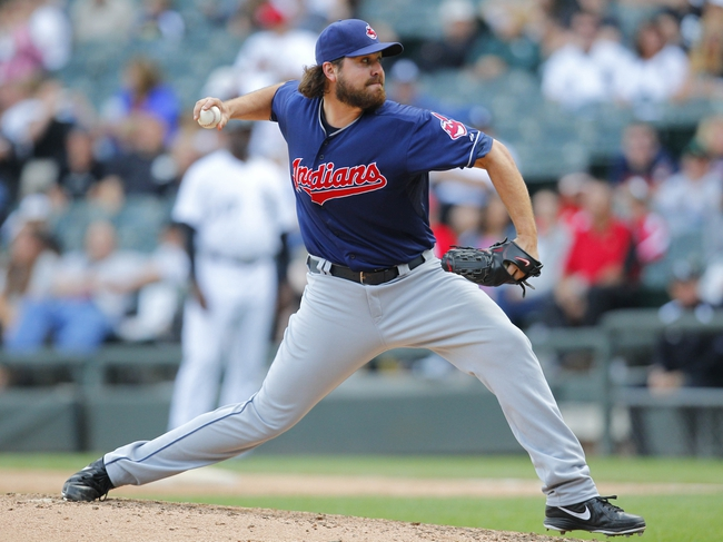 Jun 29, 2013; Chicago, IL, USA; Cleveland Indians relief pitcher Chris Perez (54) delivers a pitch during the ninth inning against the Chicago White Sox at US Cellular Field. Cleveland won 4-3. Mandatory Credit: Dennis Wierzbicki-USA TODAY Sports