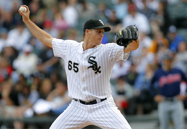 Jun 29, 2013; Chicago, IL, USA; Chicago White Sox relief pitcher Nate Jones (65) delivers a pitch during the ninth inning against the Cleveland Indians at US Cellular Field. Cleveland won 4-3. Mandatory Credit: Dennis Wierzbicki-USA TODAY Sports