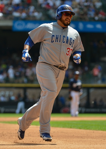 Jun 27, 2013; Milwaukee, WI, USA; Chicago Cubs catcher Dioner Navarro during the game against the Milwaukee Brewers at Miller Park. Mandatory Credit: Benny Sieu-USA TODAY Sports