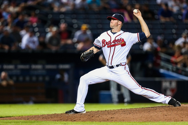 Jul 2, 2013; Atlanta, GA, USA; Atlanta Braves relief pitcher Alex Wood (58) pitches in the ninth inning against the Miami Marlins at Turner Field. The Braves won 11-3. Mandatory Credit: Daniel Shirey-USA TODAY Sports