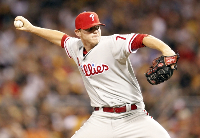 Jul 2, 2013; Pittsburgh, PA, USA; Philadelphia Phillies relief pitcher Justin De Fratus (79) delivers a pitch against the Pittsburgh Pirates during the eighth  inning at PNC Park. The Philadelphia Phillies won 3-1. Mandatory Credit: Charles LeClaire-USA TODAY Sports