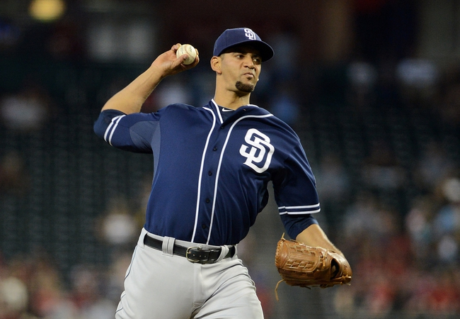 Jul 28, 2013; Phoenix, AZ, USA; San Diego Padres pitcher Tyson Ross (38) pitches against the Arizona Diamondbacks in the second inning at Chase Field. The Padres defeated the Diamondbacks 1-0. Mandatory Credit: Jennifer Stewart-USA TODAY Sports