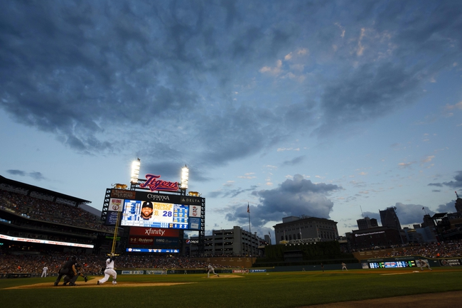 Aug 3, 2013; Detroit, MI, USA;General view as Detroit Tigers first baseman Prince Fielder (28) bats in the fifth inning against the Chicago White Sox  at Comerica Park. Mandatory Credit: Rick Osentoski-USA TODAY Sports