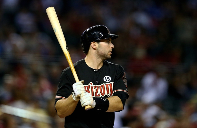 Jul. 9, 2013; Phoenix, AZ, USA: Arizona Diamondbacks first baseman Paul Goldschmidt against the Los Angeles Dodgers at Chase Field. Mandatory Credit: Mark J. Rebilas-USA TODAY Sports