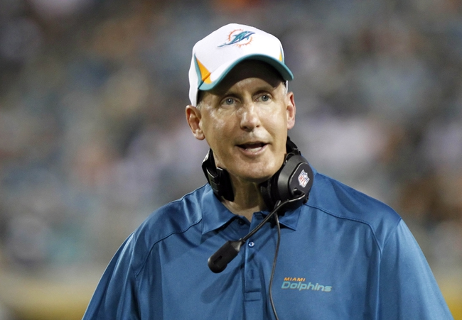 Aug 9, 2013; Jacksonville, FL, USA; Miami Dolphins head coach Joe Philbin during the second half against the Jacksonville Jaguars at EverBank Field. Miami Dolphins defeated the Jacksonville Jaguars 27-3. Mandatory Credit: Kim Klement-USA TODAY Sports