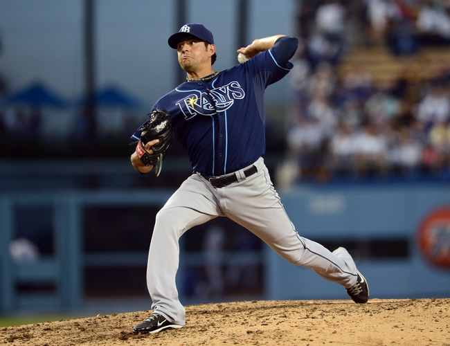 Aug 11, 2013; Los Angeles, CA, USA;    Tampa Bay Rays relief pitcher Cesar Ramos (27) during the game against the Los Angeles Dodgers at Dodger Stadium. Mandatory Credit: Jayne Kamin-Oncea-USA TODAY Sports