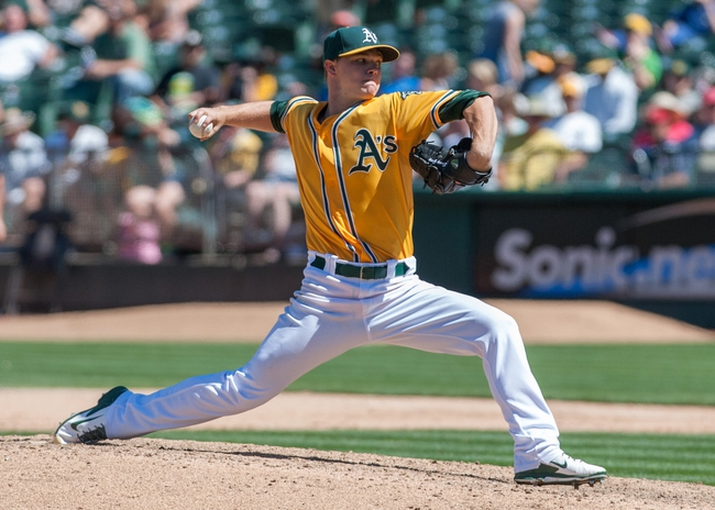 Aug 15, 2013; Oakland, CA, USA; Oakland Athletics starting pitcher Sonny Gray (54) pitches against the Houston Astros during the eighth inning at O.Co Coliseum. The Oakland Athletics defeated the Houston Astros 5-0. Mandatory Credit: Ed Szczepanski-USA TODAY Sports