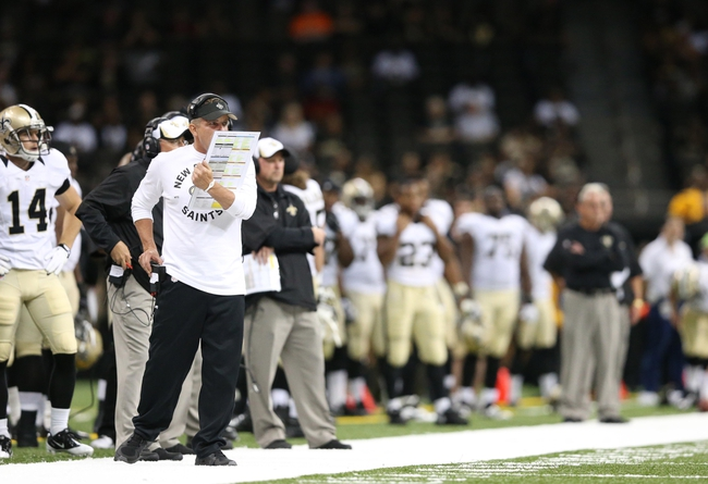 Aug 16, 2013; New Orleans, LA, USA; New Orleans Saints head coach Sean Payton in the second half against the Oakland Raiders at the Mercedes-Benz Superdome. New Orleans defeated Oakland 28-20. Mandatory Credit: Crystal LoGiudice-USA TODAY Sports