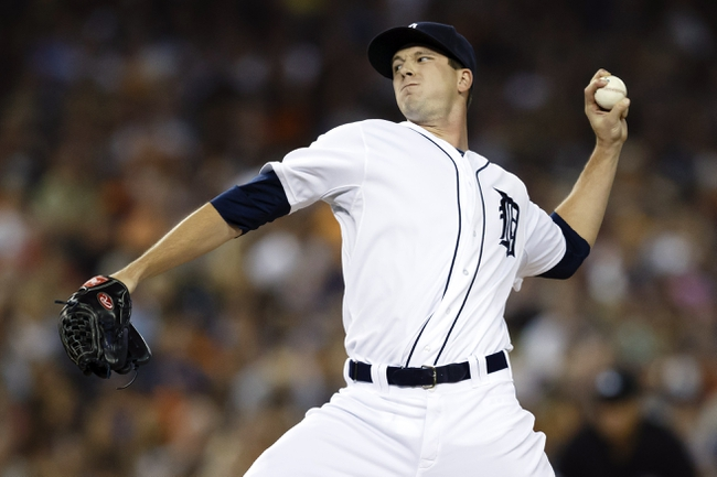 Aug 21, 2013; Detroit, MI, USA; Detroit Tigers relief pitcher Drew Smyly (33) pitches in the seventh inning against the Minnesota Twins at Comerica Park. Mandatory Credit: Rick Osentoski-USA TODAY Sports
