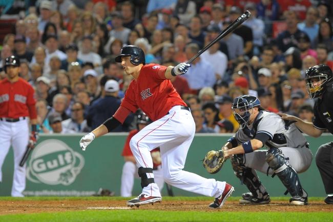 Aug 16, 2013; Boston, MA, USA; Boston Red Sox third baseman Will Middlebrooks (16) bats during the sixth inning against the New York Yankees at Fenway Park. Mandatory Credit: Bob DeChiara-USA TODAY Sports