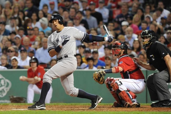 Aug 16, 2013; Boston, MA, USA; New York Yankees third baseman Alex Rodriguez (13) bats during the third inning against the Boston Red Sox at Fenway Park. Mandatory Credit: Bob DeChiara-USA TODAY Sports