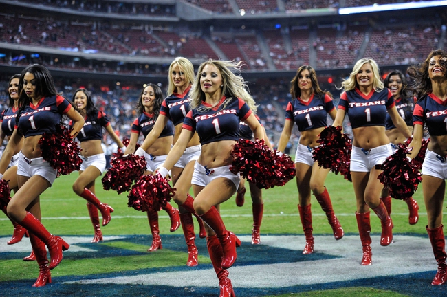 Aug 17, 2013; Houston, TX, USA; The Houston Texans cheerleaders perform during the game between the Texans and the Miami Dolphins at Reliant Stadium. The Texans defeated the Dolphins 24-17. Mandatory Credit: Jerome Miron-USA TODAY Sports