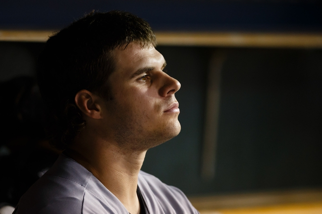 Aug 3, 2013; Detroit, MI, USA; Chicago White Sox catcher Josh Phegley (36) sits in dugout against the Detroit Tigers at Comerica Park. Mandatory Credit: Rick Osentoski-USA TODAY Sports