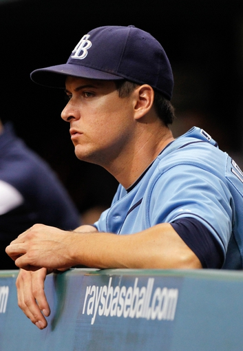 Aug 18, 2013; St. Petersburg, FL, USA; Tampa Bay Rays left fielder Kelly Johnson (2) against the Toronto Blue Jays at Tropicana Field. Mandatory Credit: Kim Klement-USA TODAY Sports