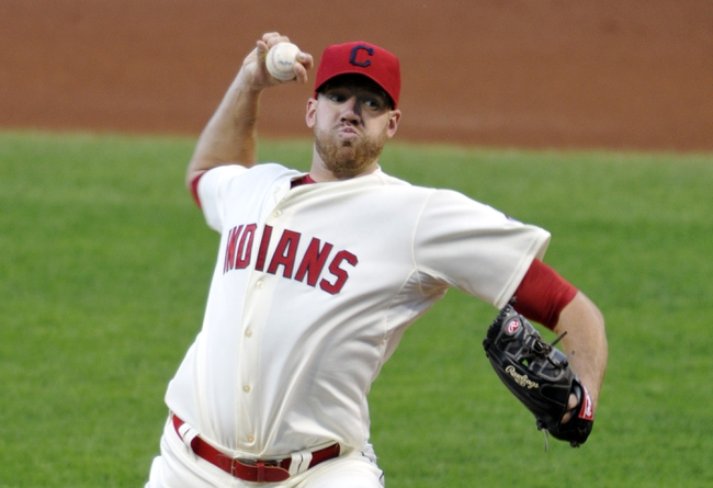 Aug 24, 2013; Cleveland, OH, USA; Cleveland Indians starting pitcher Zach McAllister (34) delivers in the second inning against the Minnesota Twins at Progressive Field. Mandatory Credit: David Richard-USA TODAY Sports