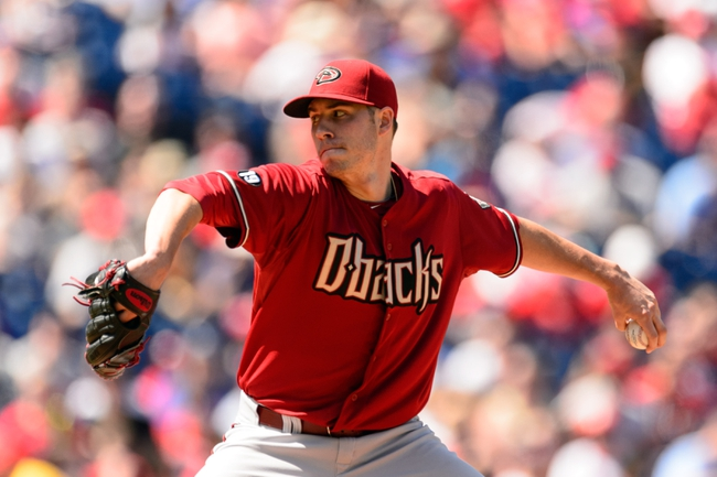 Aug 25, 2013; Philadelphia, PA, USA; Arizona Diamondbacks pitcher Patrick Corbin (46) delivers to the plate during the first inning against the Philadelphia Phillies at Citizens Bank Park. Mandatory Credit: Howard Smith-USA TODAY Sports