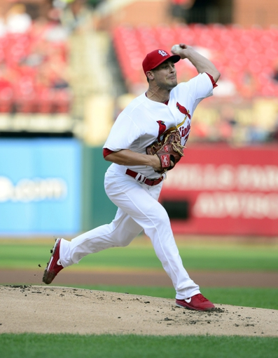 Aug 26, 2013; St. Louis, MO, USA; St. Louis Cardinals starting pitcher Tyler Lyons (70) throws to a Cincinnati Reds batter during the first inning at Busch Stadium. Mandatory Credit: Jeff Curry-USA TODAY Sports