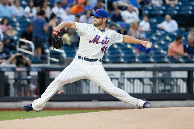 Aug 27, 2013; New York, NY, USA;  New York Mets starting pitcher Jonathon Niese (49) pitches during the first inning against the Philadelphia Phillies at Citi Field. Mandatory Credit: Anthony Gruppuso-USA TODAY Sports