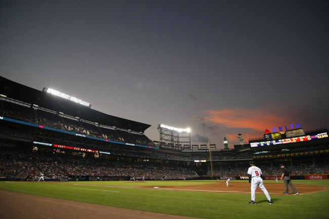 Aug 29, 2013; Atlanta, GA, USA; General view of Turner Field during a game between the Atlanta Braves and Cleveland Indians in the third inning. Mandatory Credit: Brett Davis-USA TODAY Sports