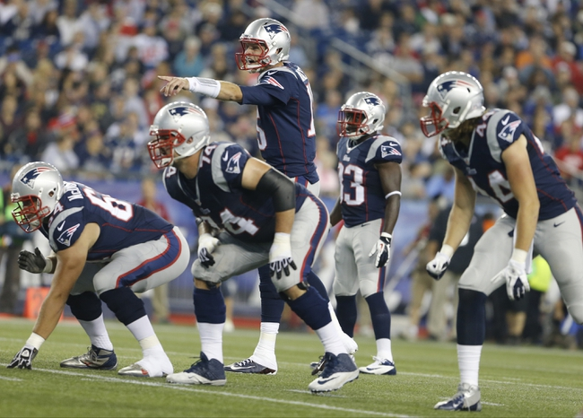 Aug 29, 2013; Foxborough, MA, USA; New England Patriots quarterback Ryan Mallett (15) on the field against the New York Giants in the second quarter at Gillette Stadium. Mandatory Credit: David Butler II-USA TODAY Sports