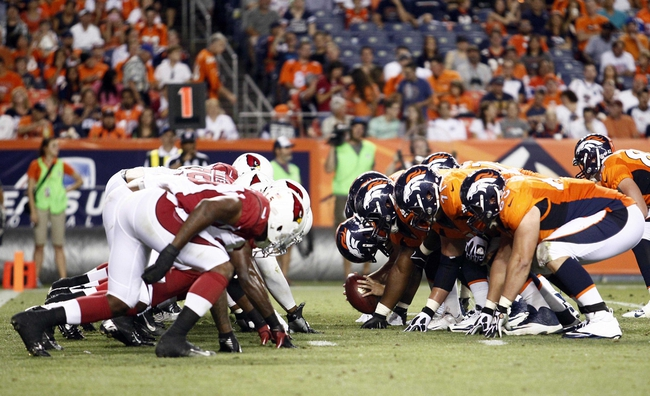 Aug 29, 2013; Denver, CO, USA; A general view in the third quarter of the game between the Denver Broncos and the Arizona Cardinals at Sports Authority Field at Mile High. The Cardinals won 32-24. Mandatory Credit: Isaiah J. Downing-USA TODAY Sports