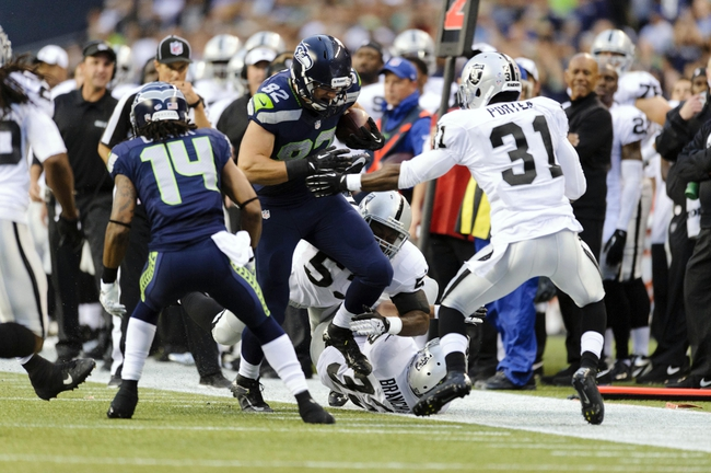 Aug 29, 2013; Seattle, WA, USA; Seattle Seahawks tight