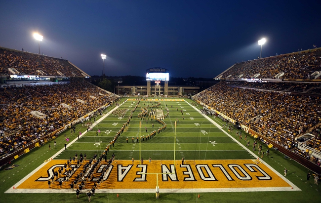Aug 31, 2013; Hattiesburg, MS, USA; A general view of M.M. Roberts Stadium at halftime of the Southern Mississippi Golden Eagles football game against the Texas State Bobcats. Mandatory Credit: Chuck Cook-USA TODAY Sports