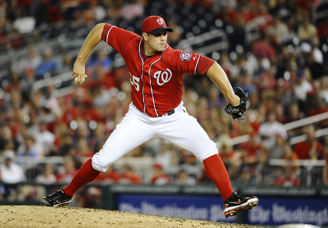 Sep 1, 2013; Washington, DC, USA; Washington Nationals relief pitcher Craig Stammen (35)  throws during the sixth inning against the New York Mets at Nationals Park. Mandatory Credit: Brad Mills-USA TODAY Sports