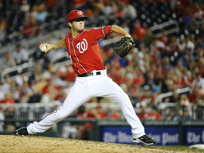 Sep 1, 2013; Washington, DC, USA; Washington Nationals relief pitcher Erik Davis (51) throws during the eighth inning against the New York Mets at Nationals Park. Mandatory Credit: Brad Mills-USA TODAY Sports