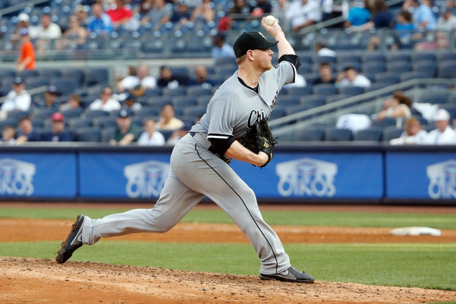 Sep 2, 2013; Bronx, NY, USA;  Chicago White Sox relief pitcher David Purcey (41) delivers a pitch during the eighth inning against the Chicago White Sox at Yankee Stadium. Yankees won 9-1.  Mandatory Credit: Anthony Gruppuso-USA TODAY Sports
