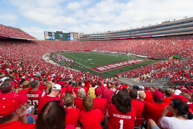 Aug 31, 2013; Madison, WI, USA; An overall view of Camp Randall stadium during the game between the Massachusetts Minutemen and Wisconsin Badgers.  Wisconsin won 45-0.  Mandatory Credit: Jeff Hanisch-USA TODAY Sports