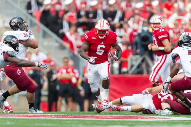 Aug 31, 2013; Madison, WI, USA; Wisconsin Badgers running back Corey Clement (6) during the game against the Massachusetts Minutemen at Camp Randall Stadium.  Wisconsin won 45-0.  Mandatory Credit: Jeff Hanisch-USA TODAY Sports