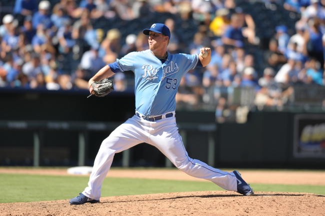 Sep 2, 2013; Kansas City, MO, USA; Kansas City Royals relief pitcher Will Smith (53) delivers a pitch in the fifth inning of the game against the Seattle Mariners at Kauffman Stadium. The Royals won 3-1. Mandatory Credit: Denny Medley-USA TODAY Sports