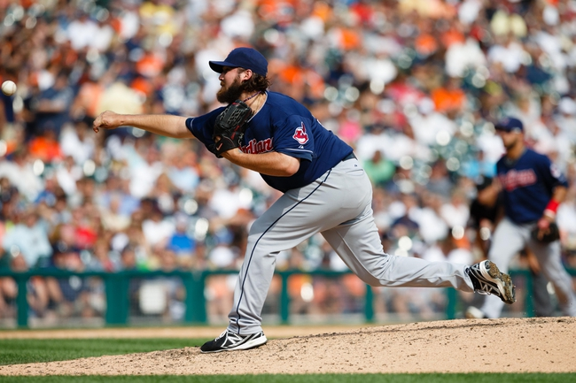 Sep 1, 2013; Detroit, MI, USA; Cleveland Indians relief pitcher Chris Perez (54) pitches during the ninth inning against the Detroit Tigers at Comerica Park. Cleveland won 4-0. Mandatory Credit: Rick Osentoski-USA TODAY Sports