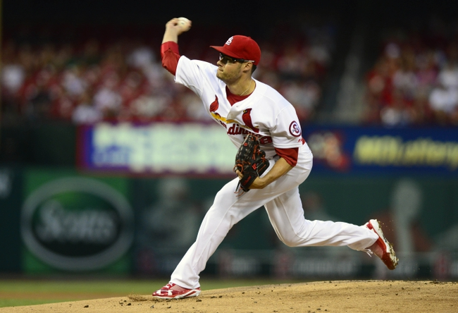 Sep 6, 2013; St. Louis, MO, USA; St. Louis Cardinals starting pitcher Joe Kelly (58) throws to a Pittsburgh Pirates batter during the first inning at Busch Stadium. Mandatory Credit: Jeff Curry-USA TODAY Sports