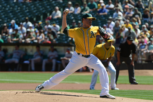 September 7, 2013; Oakland, CA, USA; Oakland Athletics starting pitcher Dan Straily (67) delivers a pitch against the Houston Astros during the first inning at O.co Coliseum. Mandatory Credit: Kyle Terada-USA TODAY Sports